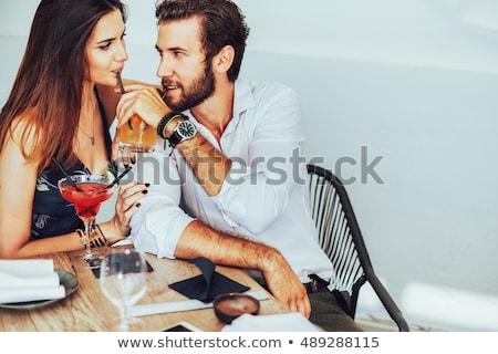 カップル 孤立した 白 女性 ストックフォト © acidgrey