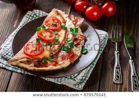 Stock fotó: Bacon Omelet