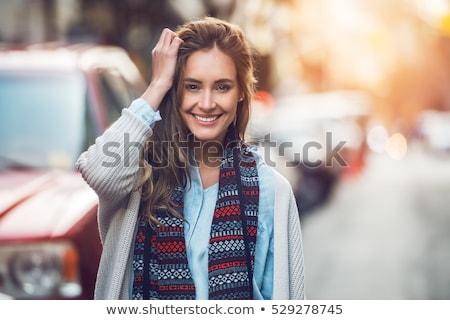 Tramonto ritratto inverno donna caldo Foto d'archivio © Steevy84