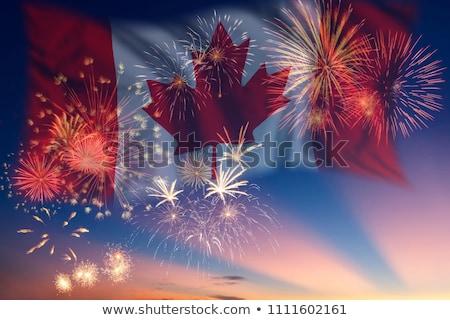 Канада день фейерверк отображения празднования аннотация Сток-фото © Gordo25
