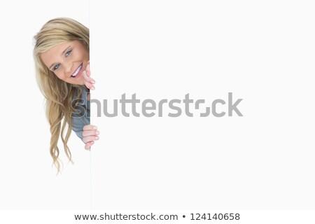 kadın · arkasında · siyah · portre · genç - stok fotoğraf © wavebreak_media