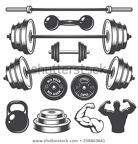 Weight lifting set Stock photo © cteconsulting