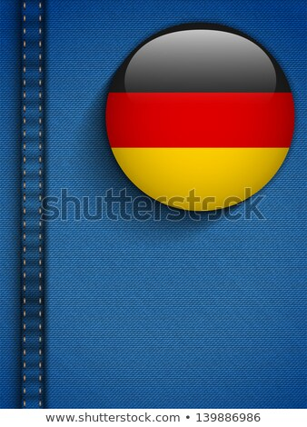 Almanya · bayrak · düğme · kot · cep · vektör - stok fotoğraf © gubh83