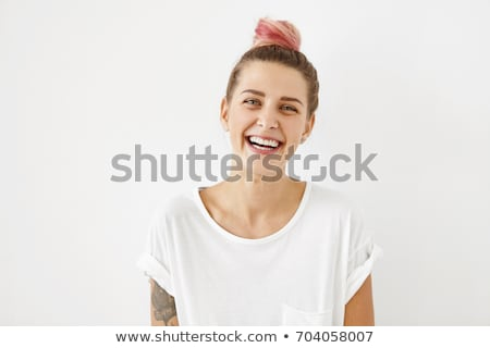 genç · kadın · poz · beyaz · güzel · genç - stok fotoğraf © hasloo