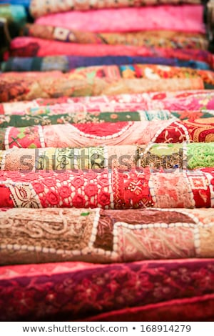 Stack of Sari Fabric Stock photo © Theohrm