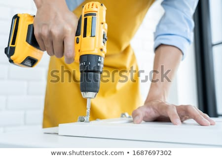 Hand Drill With Wood Handle Stock photo © TeamC