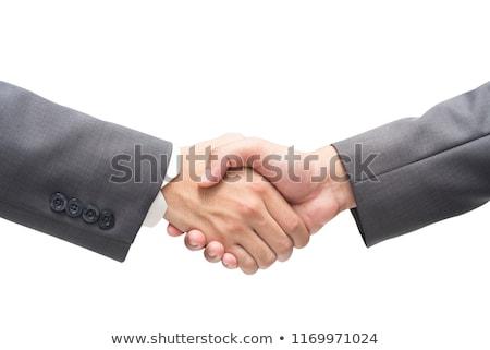 kézfogás · üzletemberek · kettő · kézfogás · nő · igazgató - stock fotó © lorenzodelacosta