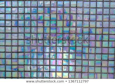 mármore · mosaico · azulejos · pequeno · praça · marrom - foto stock © sumners