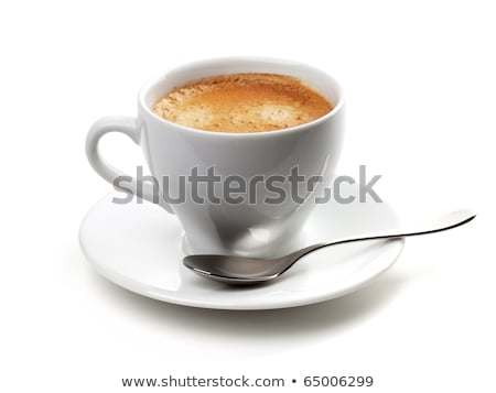 cup of coffee and silver spoon stock photo © doupix