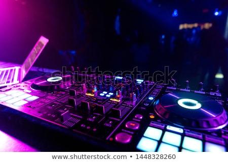 De audio mezclador música escritorio colorido luces Foto stock © lunamarina