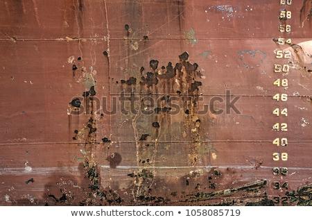 grunge paint aged red boat hull texture stock photo © lunamarina
