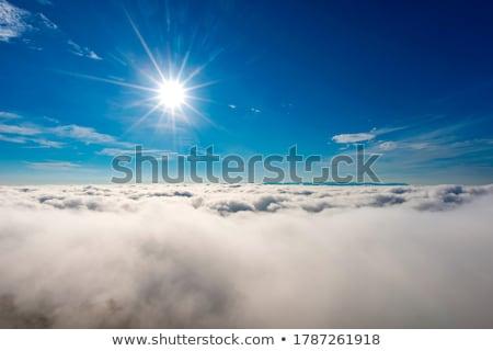 Photo stock: Soleil · au-dessus · horizon · ciel · nuages