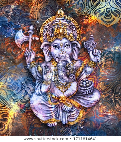 Stock photo: abstract ganesh silhouette