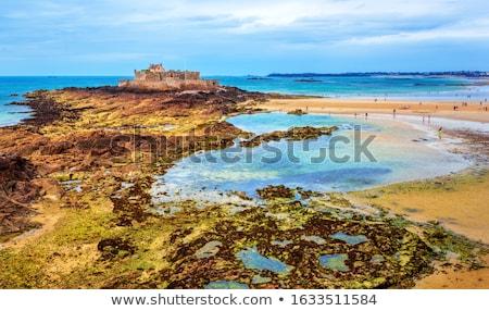 beach around Saint-Malo Stock photo © prill
