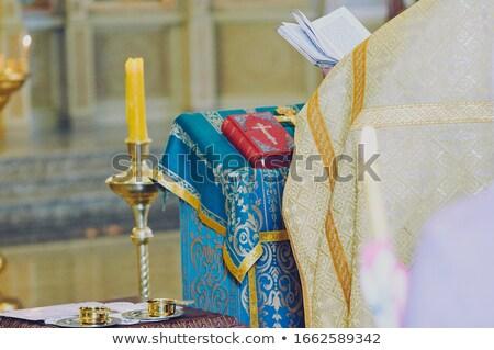 Ortodossa chiesa interni Grecia legno panorama Foto d'archivio © ankarb