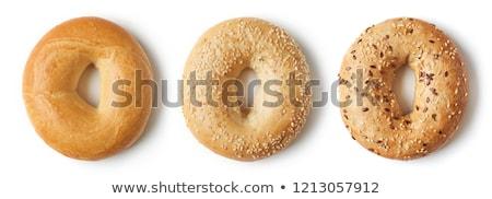 全粒小麦 · ベーグル · 白 · 孤立した · 食品 · パン - ストックフォト © devon