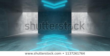 Concrete room with arrow on the wall Stock photo © stevanovicigor