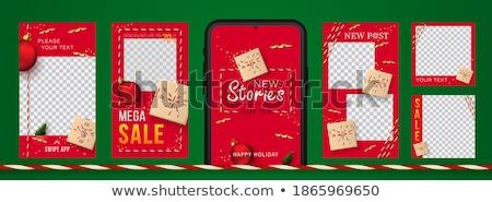 Natale storia open bible decorazioni libro Foto d'archivio © MKucova