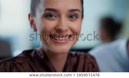 Dame manager jonge professionele park genieten Stockfoto © Kor