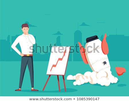desamparado · jovem · negócio · mulher · de · negócios · ombros · branco - foto stock © elwynn