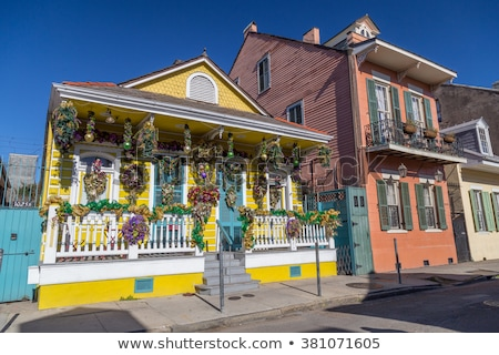 old New Orleans houses in french Quarter Stock photo © meinzahn