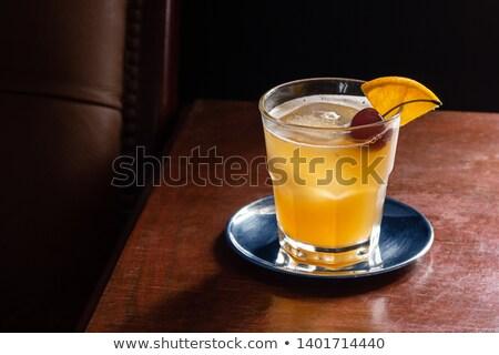 Amaretto Sour Cocktail Stock photo © PeterHermesFurian