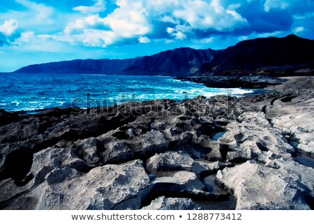 Lawa skała starych biały wyspa aktywny Zdjęcia stock © dirkr