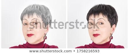 Farbe Vergleich Frauen Mode Schönheit Porträt Stock foto © Nejron