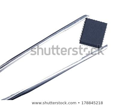 számítógép · chip · mikrocsip · illusztráció · 3d · illusztráció · technológia - stock fotó © oleksandro