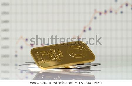 altın · çubuklar · bar · banka · pazar - stok fotoğraf © kacpura