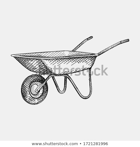 Sketch barrow, vector vintage background Stock photo © kali