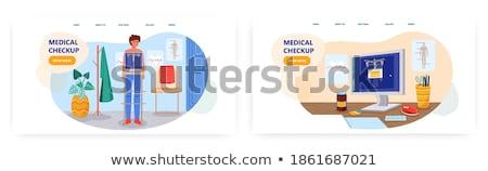 Doctor doing checkup human body Stock photo © HASLOO