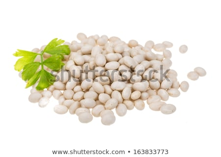 Blanco frijoles verde tazón dieta saludable Foto stock © raphotos