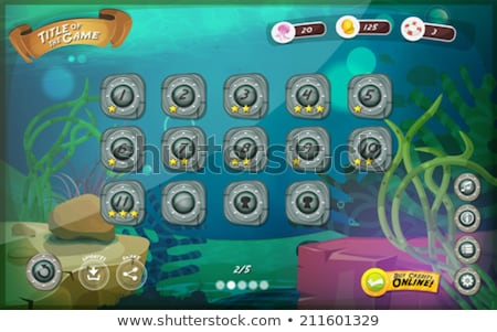 Submarine Game User Interface For Tablet Stock photo © benchart