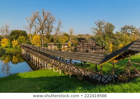 Wody młyn łodzi Słowacja jesienią architektury Zdjęcia stock © phbcz
