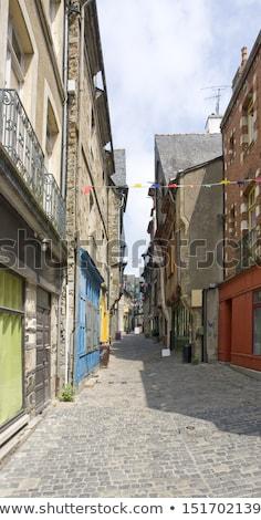 breton street scenery Stock photo © prill