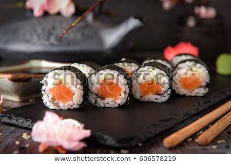 salmon maki roll stock photo © zhekos