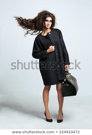 Portré lány sötét szem smink haj repülés Stock fotó © vlad_star