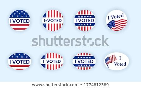 adesivo · votar · político · política · eleição - foto stock © tdoes