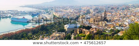 panoramic view of malaga seaport spain stock photo © amok