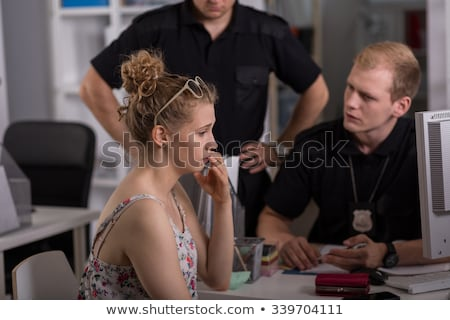 Witness interview at police station Stock photo © stokkete