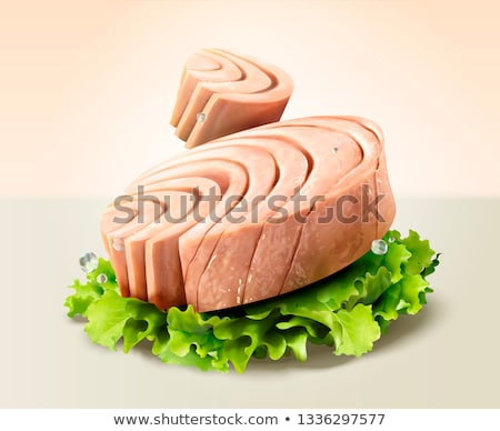 friss · tonhal · hal · piac · piros · hús - stock fotó © pumujcl