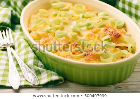 Alho-porro verde jantar cozinhar cozinhar vegetal Foto stock © M-studio