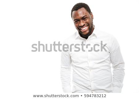maschile · african · uomo · ritratto · isolato · bianco - foto d'archivio © alexandre_zveiger