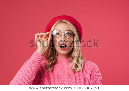 lány · svájcisapka · külső · fiatal · hölgy · fej - stock fotó © maros_b