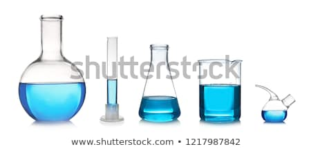 set of glass laboratory flasks  Stock photo © OleksandrO