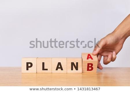Terv b-terv kék piros ül ellenkező Stock fotó © 3mc
