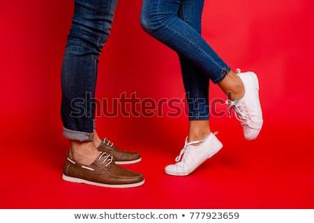 Kobiet nogi buty czarny kobieta sexy Zdjęcia stock © maros_b