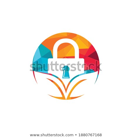 green home security system logo with padlock stock photo © anna_leni