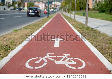 自転車 レーン パス アイコン シンボル 赤 ストックフォト © FrameAngel